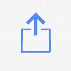 共有アイコンの画像