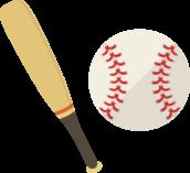 野球バットとボールのアイコン