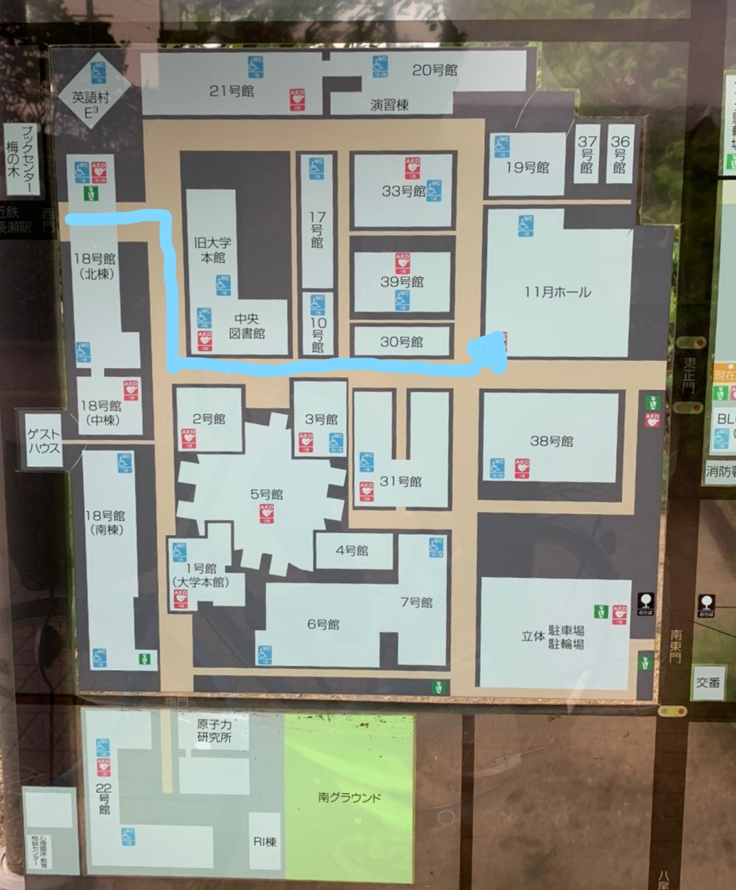 近畿大学の地図